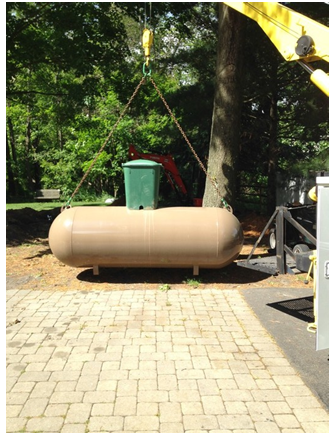 beige tank provided by propane companies in PA