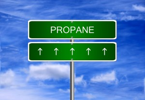 Propane price investment trading arrow going up rising strong industry bull market concept.