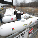 Propane tanks for temporary heating building construction