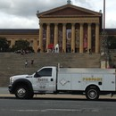 Derek's Service truck in front of the Philadelphia Museum of Art during Pope Weekend - we were the propane provider for all of the forklifts being used for moving supplies around.