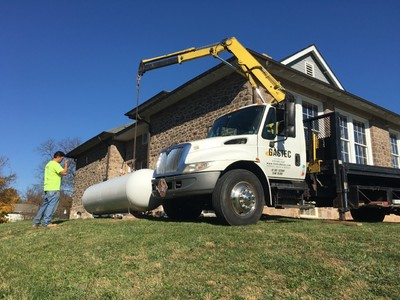 Above ground propane tank installation montgomery county